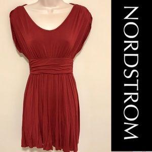 NORDSTROM Merlot Red Jersey Dress by Soprano